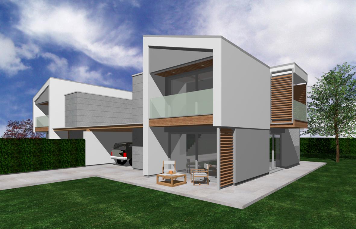 Edificio bifamiliare san giorgio di nogaro ud il mio sito for Progetti ville bifamiliari moderne
